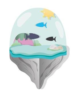 Paper art aquarius