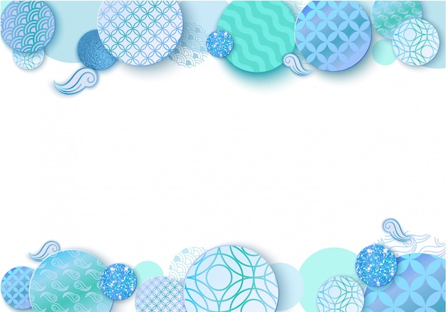Paper art background with abstract spheres design