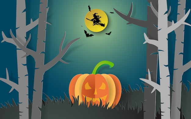 Paper art halloween