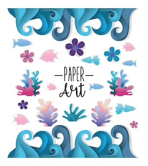 Paper art undersea