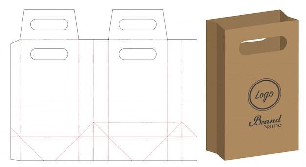 Paper bag packaging die-cut