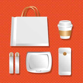 Paper bag and packagings colors gradient style