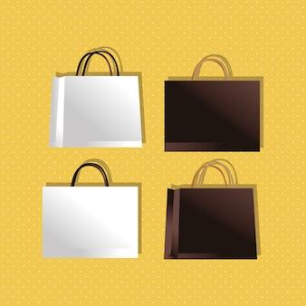 Бумажные пакеты цвета упаковки стиль градиент