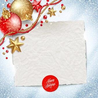 Бумажный баннер для праздничного поздравительного сообщения и рождественского украшения