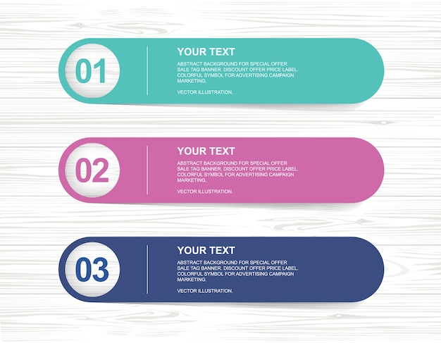 Paper banner tag for business background.