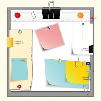 Бумажные баннеры и булавки