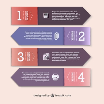 Paper banners template