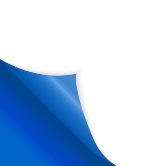 Paper bent corner for free filling of blue color.