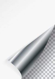 Paper bent corner for free filling of white color