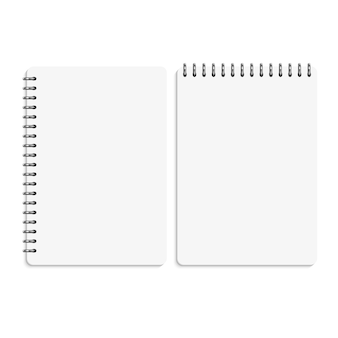 Paper blank notebooks, notepads isolated