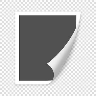 그림자와 함께 종이 빈 페이지 웅크 리고 코너. 디자인을위한 벡터 템플릿 일러스트 프리미엄 벡터