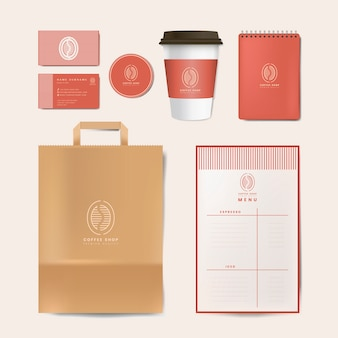 Paper branding mockup set