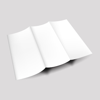 Paper brochure empty corporate