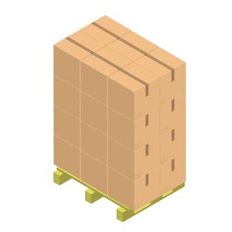 Бумага коричневый контейнер, изолированных на фоне