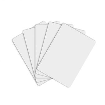Макет бумажных карточек