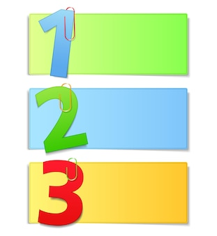 Paper cards with numbers,  illustration