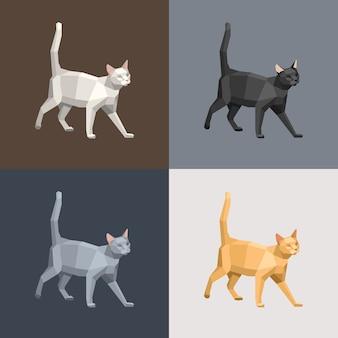 Набор бумажных кошек