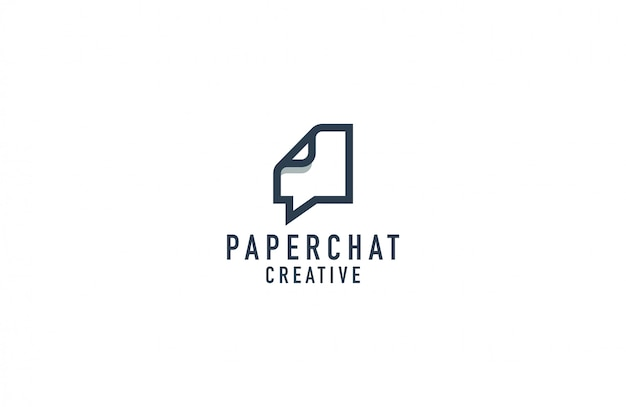Paper chat logo illustration