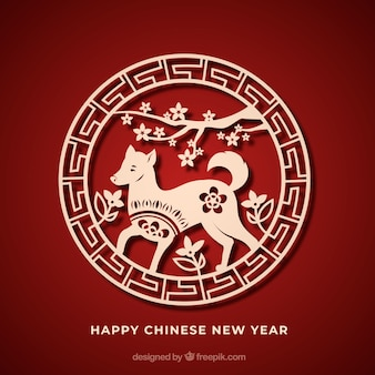 Paper chinese new year background