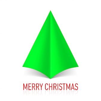 紙のクリスマスツリーの図