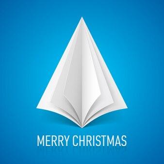 紙のクリスマスツリー。