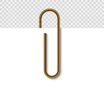 Paper clip on paper.