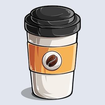 紙のコーヒーカップ紙のコーヒーと飲み物