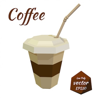 Paper cup for coffee and latte isolated illustration