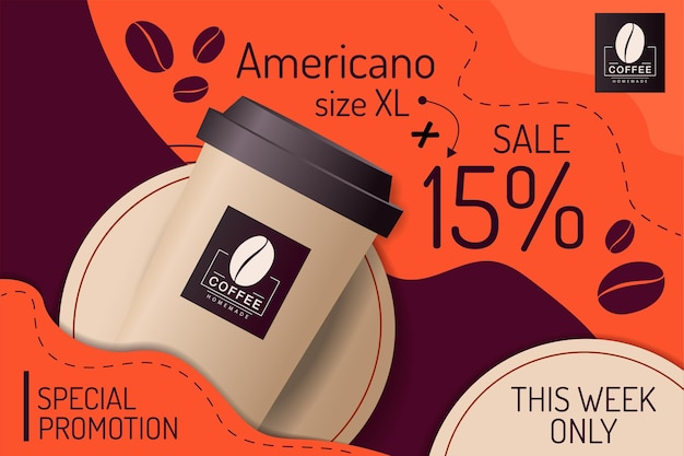 Paper cup coffee special promotion