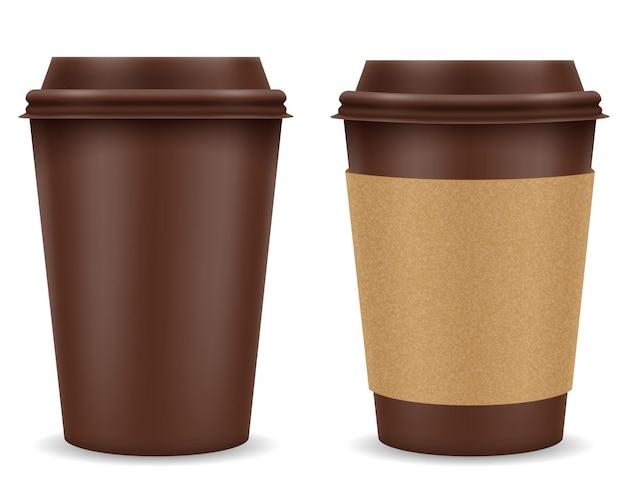 화이트 커피 종이 컵