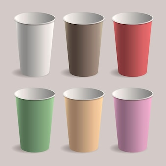 Paper cups collection