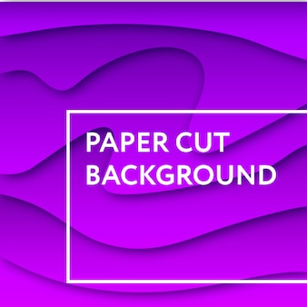 Paper cut background abstract vector color gradient 3d art illustration