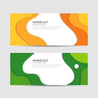 Paper cut banner для бизнеса