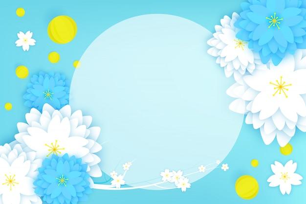 Paper cut floral greeting card