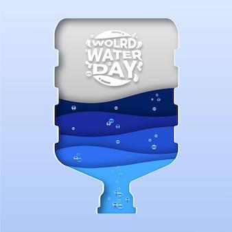 Бумажный галлон всемирный день воды