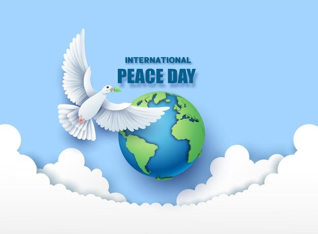 세계 평화의 날 종이 컷.