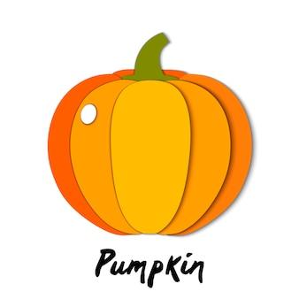 Paper cut orange pumpkin, cut shapes