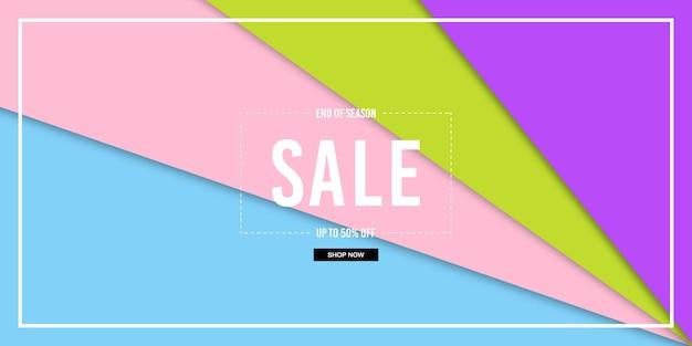 Paper cut sale banner