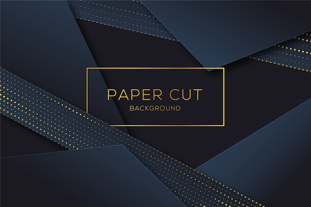 Paper cut shapes background in halftone