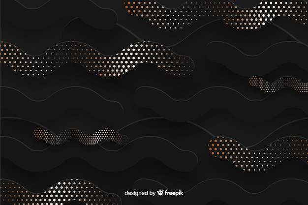 Paper cut shapes wallpaper halftone effect