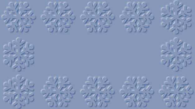Paper cut snowflakes background design