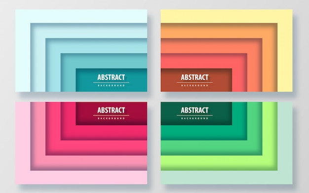Paper cut style colorful abstract background