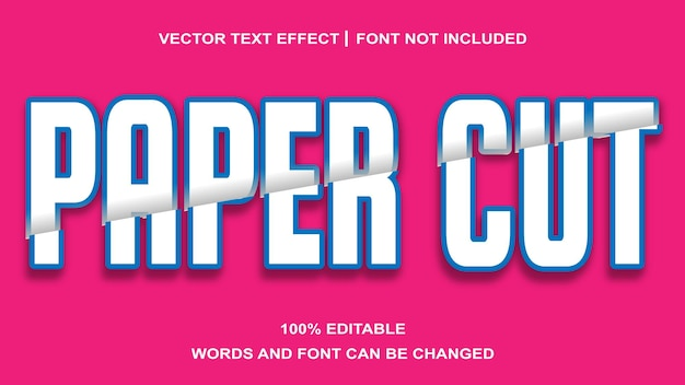 Paper cut style  editable text effect