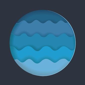 Бумажные волны на воде