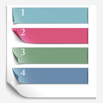 Paper design template for numbered paper banners