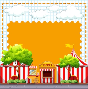 Paper design with circus tents