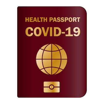 Paper and digital document to show that a person has been vaccinated with the covid-19 vaccine. covid-19 immunity certificate for safe traveling. electronic and paper health passport
