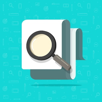 Paper document inspection or search via magnifier glass