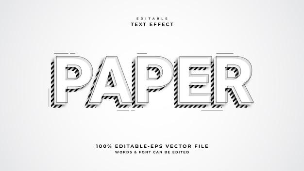 종이 편집 텍스트 효과 편집 가능한 글꼴 스타일
