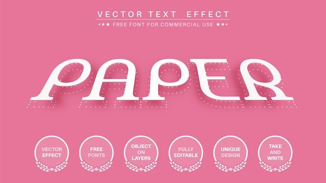 紙の編集テキスト効果編集可能なフォントスタイル